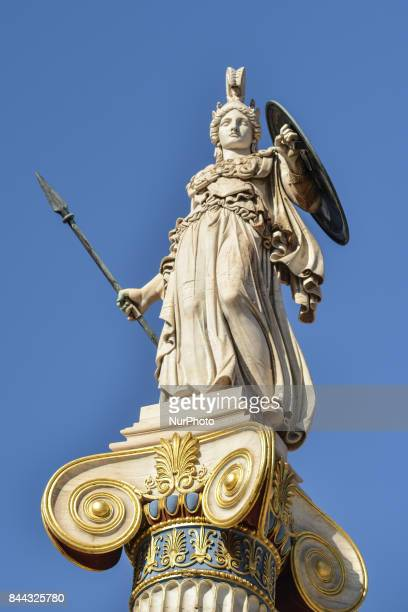 Sculpture of Godess Pallas Athena designed by Leonidas Drosis