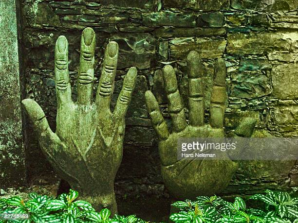 sculpture of hands - las posas stock pictures, royalty-free photos & images