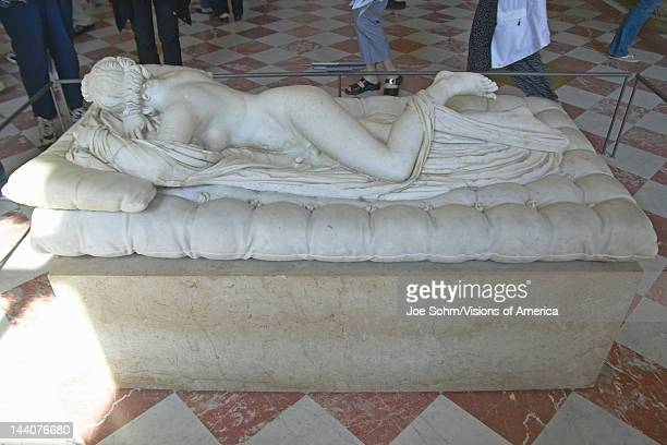 Sculpture of Hermaphrodite at the Louvre Museum Paris France