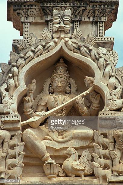 Sculpture of Hindu goddess Sarasvati