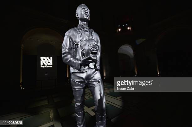 A sculpture of Jaden Smith at Spotify's RapCaviar Pantheon at Brooklyn Museum on April 02 2019 in Brooklyn New York