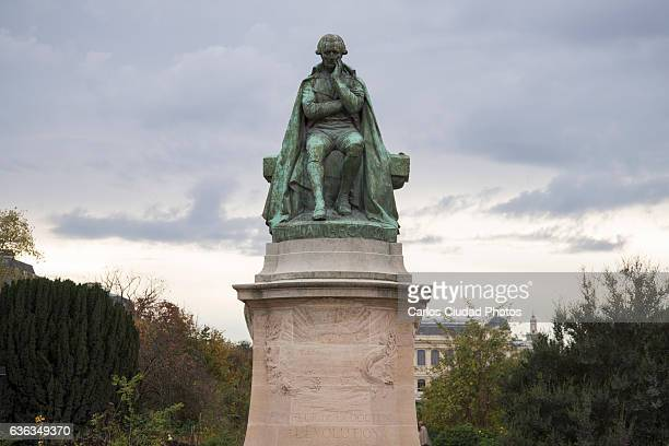 Sculpture of Jean Baptiste Lamarck at the Jardin des Plantes, Paris