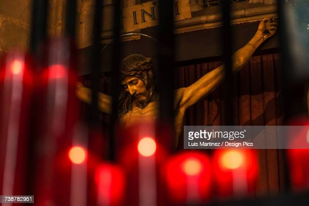 Sculpture of Jesus Christ in the Cathedral of Barcelona