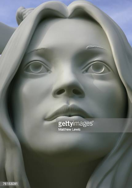A sculpture of Kate Moss sits in the gardens of the Chatsworth House Estate on August 17 2007 in Bakewell England