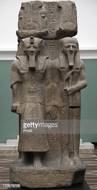 Sculpture of Pharaoh Ramesses II and the God Ptah Granite From Temple of Ptah Memphis Reign of Ramesses II C 12901224 BC 19th Dynasty New Kingdom Ny...