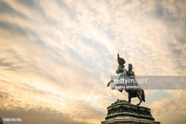sculpture of prince eugene - emperor stock pictures, royalty-free photos & images