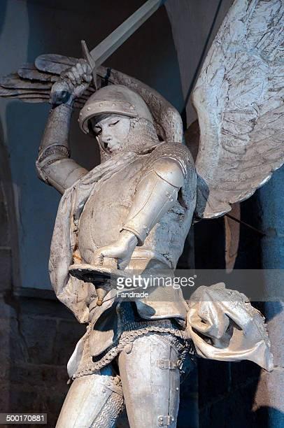 Sculpture of the archangel Michael