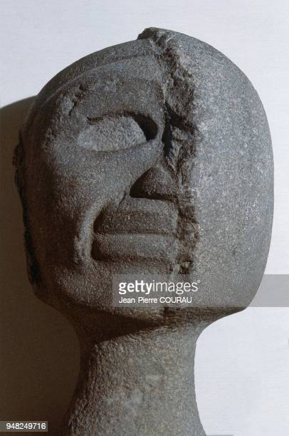 DUALISM sculpture of the coastal region of Veracruz dating from the Postclassic period and preserved at the Museum of Jalapa in Mexico This...