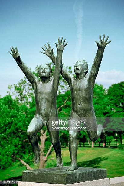 Sculpture on a bridge, Gustav Vigeland Sculpture Park, Oslo, Norway