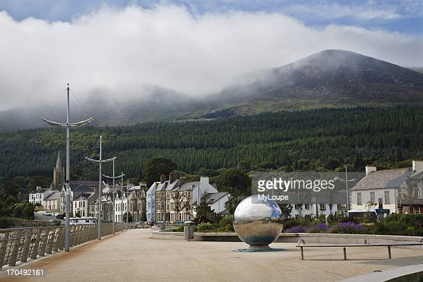 Sculpture on Newcastle promenade County Down Northern Ireland United Kingdom