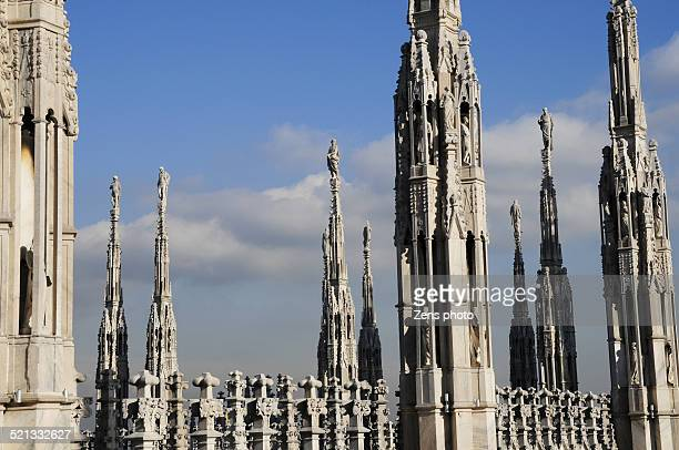 Sculpture on top of Milan cathedral