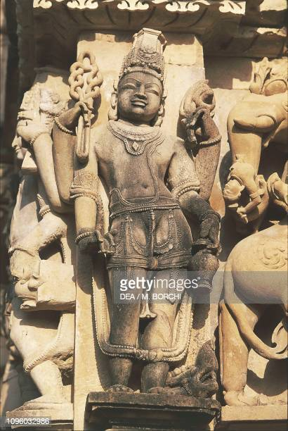 Sculpture, Parshvanatha temple, Khajuraho group of Monuments , Madhya Pradesh, India, 10th century.