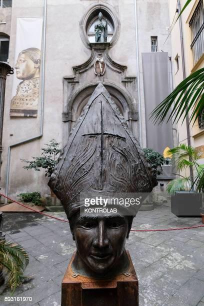 A sculpture representing Saint Januarius is exhibited in the museum of Saint Januarius in the Cathedral of Naples