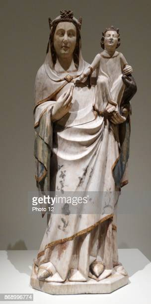 Sculpture titled 'Mother of God' by Anonymous. Dated 14th Century.