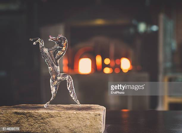 sculpture with murano glass - murano stock pictures, royalty-free photos & images