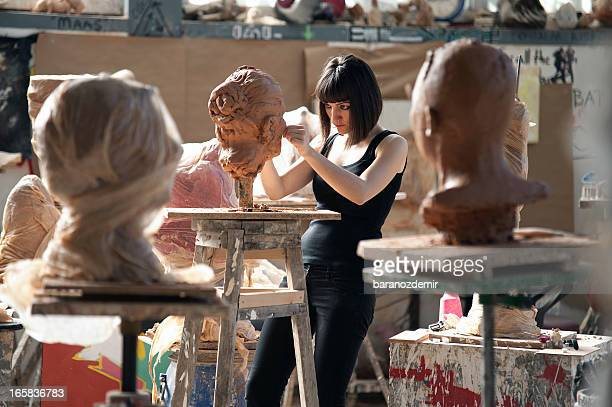 sculpture workshop - sculptor stock pictures, royalty-free photos & images
