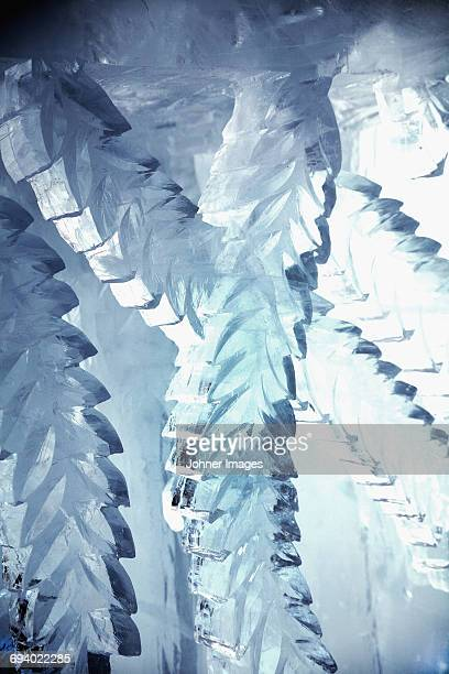 sculptured ice - ice hotel sweden stock pictures, royalty-free photos & images