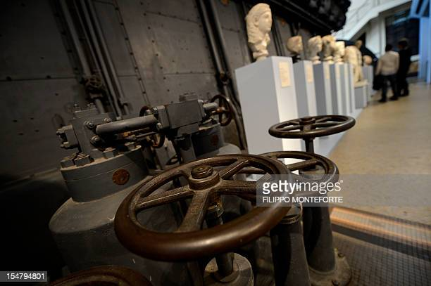 Sculptures are displayed in the Centrale Montenartini museum on October 26 2012 in Rome The museum shows hundreds of sculptures as a permanent...
