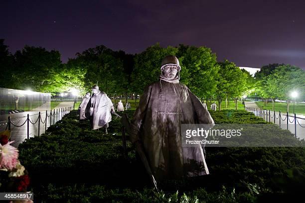 sculptures at korean war veterans memorial in washington dc - national team bildbanksfoton och bilder