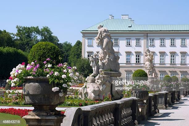 sculptures at mirabell gardens in salzburg, austria - salzburg stock pictures, royalty-free photos & images