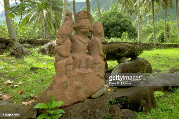 Sculptures at Nuku Hiva