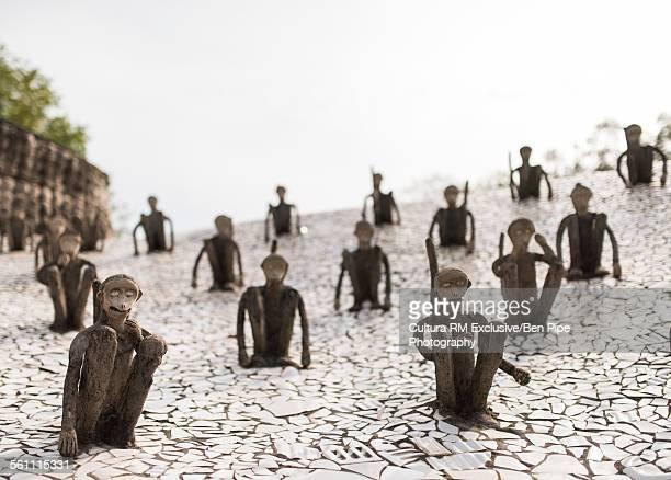 Sculptures at The Rock Garden, Chandigarh, Punjab Haryana Province, India