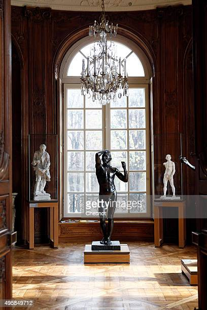 Sculptures by French sculptor Auguste Rodin are displayed at the Musee Rodin on November 5 2015 in Paris France After a complete restoration over the...