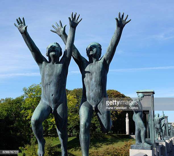 Sculptures by Gustav Vigeland displayed in The Vigeland Park in Oslo