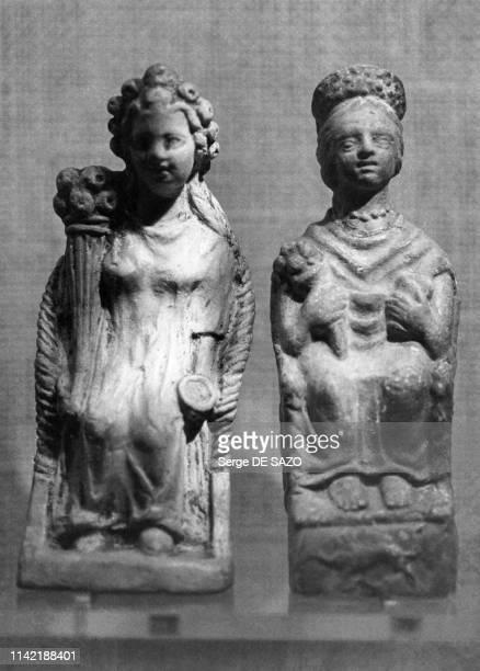 Sculptures du Magdalénien exposée au musée d'Archéologie nationale à SaintGermainenLaye dans les Yvelines France