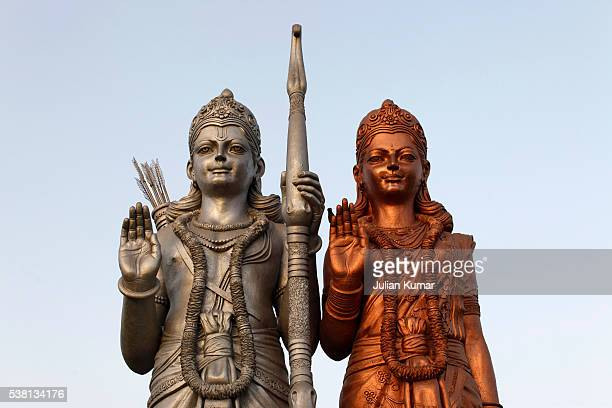 Sculptures in Mangal Manjusha : Rama and Sita