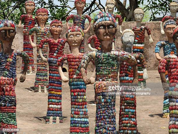 Sculptures made of waste bangles