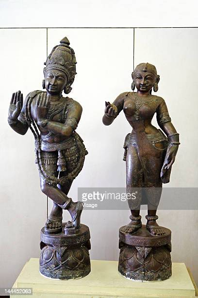 Sculptures of Lord Krishna and Radha