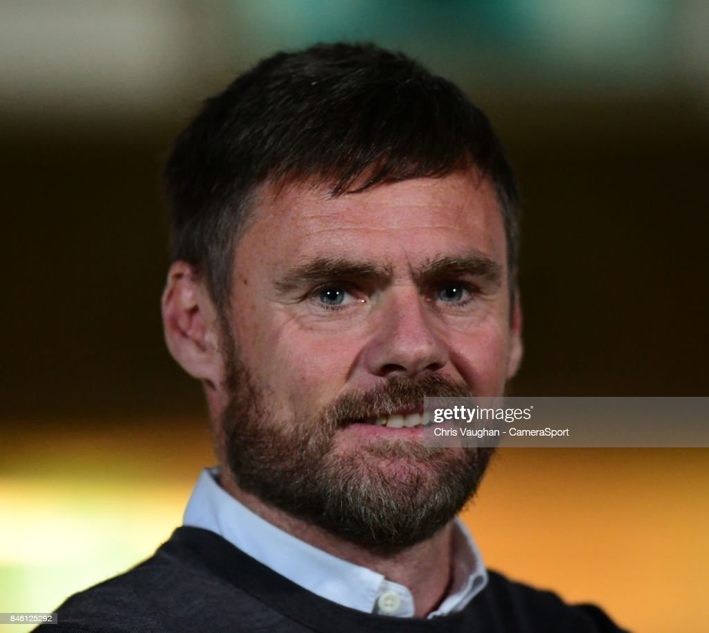 Scunthorpe United manager Graham Alexander during the Sky Bet League One match between Scunthorpe United and Blackburn Rovers at Glanford Park on September 12, 2017 in Scunthorpe, England.