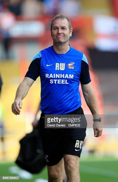 Scunthorpe United's manager Russ Wilcox