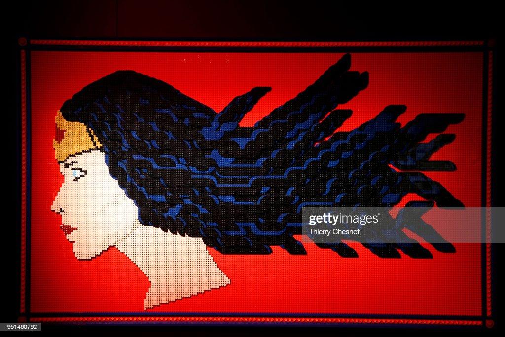 """""""The Art Of The Brick: DC Super Heroes"""" Exhibition At Parc De La Villette"""