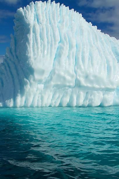 Scupted White Iceberg in Antarctica