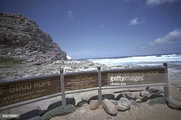 Kap der Guten Hoffnung Felsvorsprung am westlichen Südende der Kaphalbinsel