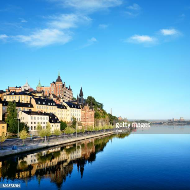 södermalm island, stockholm - stockholm stock photos and pictures