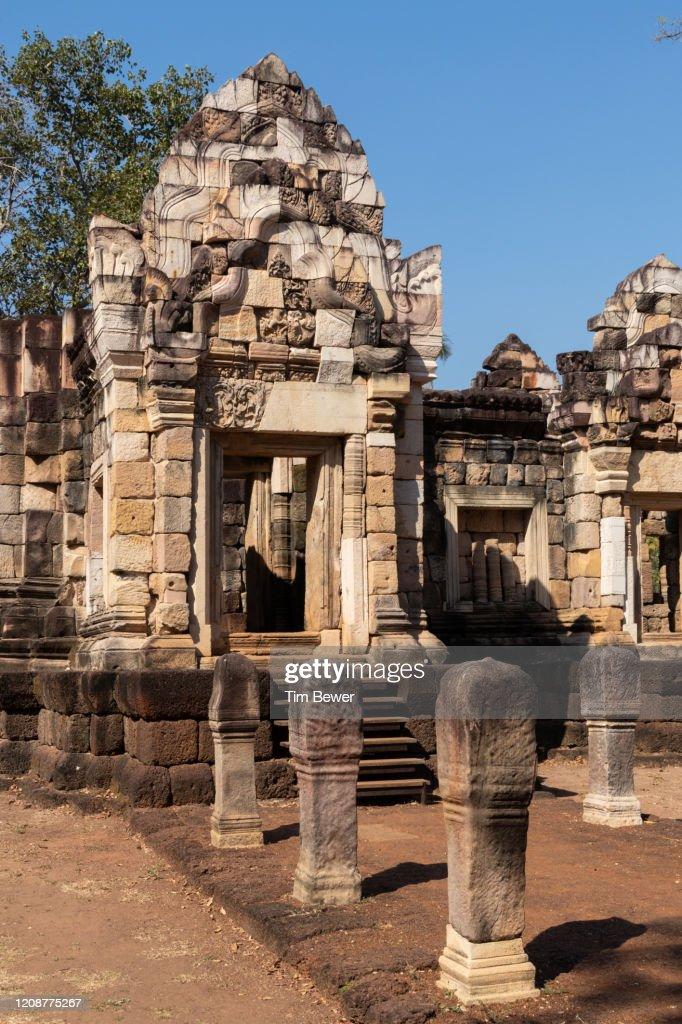 Sdok Kok Thom Khmer ruin. : Stock Photo