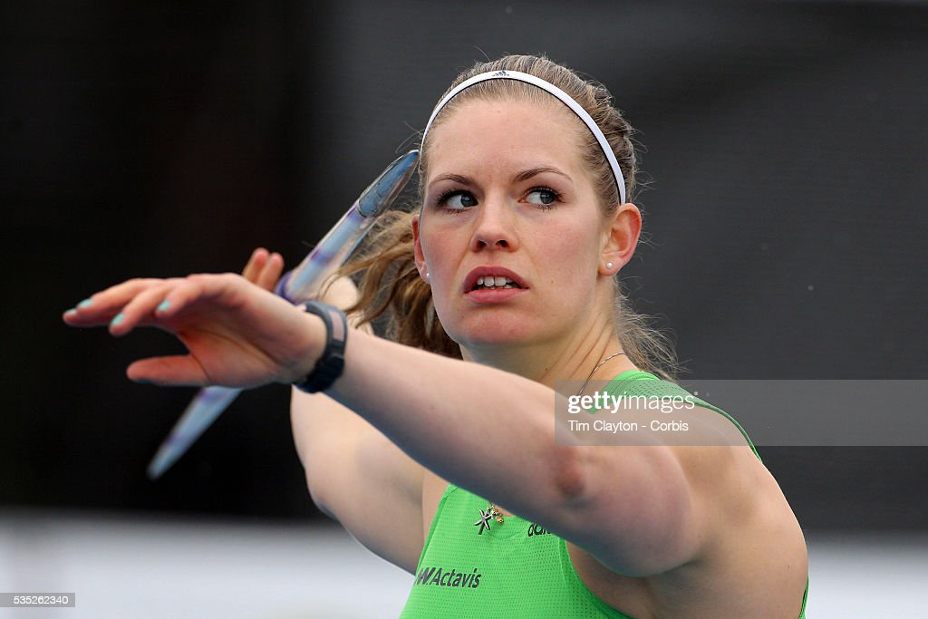 Ásdís Hjalmsdottir, Iceland, in action during the Women's Javelin event at  the Diamond League