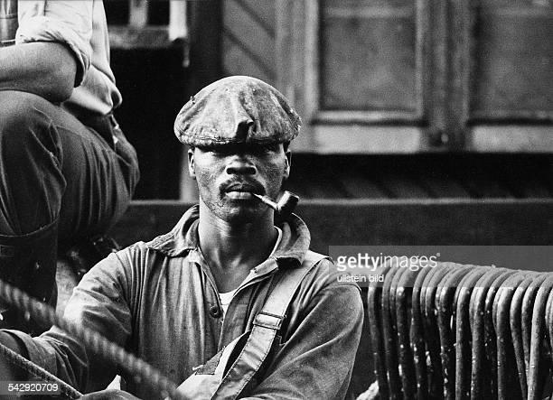 Südwestafrika Minenarbeiter einer Diamantenmine 1970Foto Jochen Blume