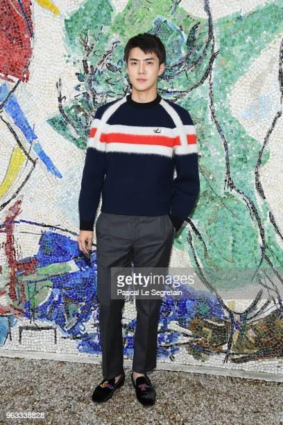 Se Hun attends Louis Vuitton 2019 Cruise Collection at Fondation Maeght on May 28 2018 in SaintPaulDeVence France