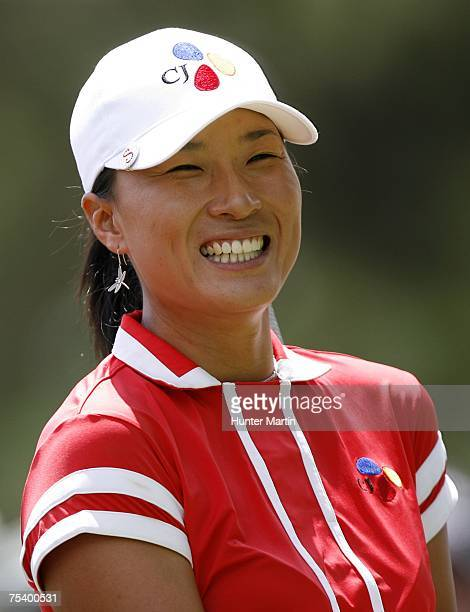 Se Ri Pak of Korea smiles on the 2nd hole during the second round of the Jamie Farr Owens Corning Classic July 13 2007 in Sylvania Ohio