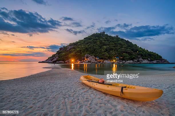 Sea and Beach at Nangyuan Island, Thailand