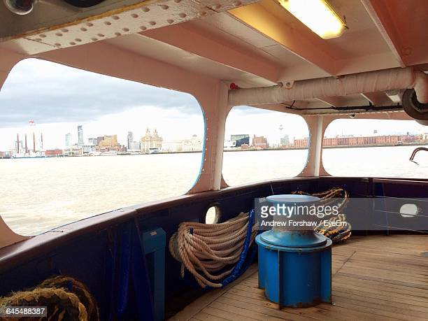 Sea And City Seen Through Ferry Boat