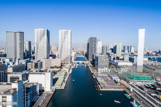Sea and sunny sky and Tokyo.