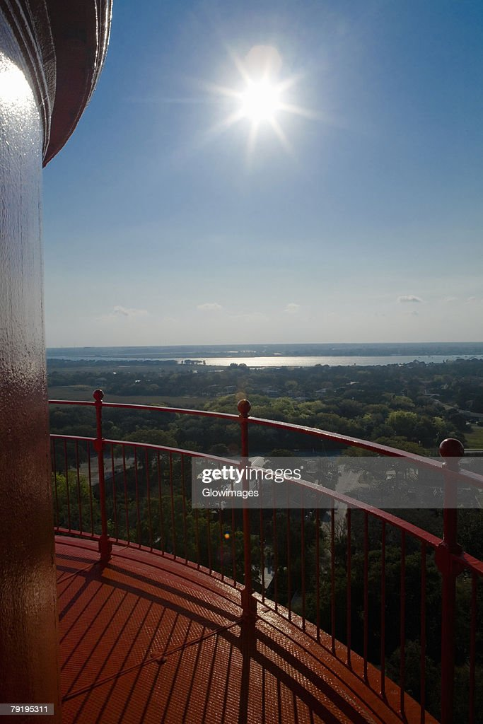 Sea as viewed from a lighthouse, St. Augustine Lighthouse And Museum, St. Augustine, Florida, USA : Stock Photo