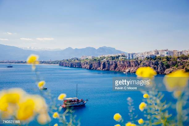 sea at antalya, turkey - アンタルヤ県 ストックフォトと画像