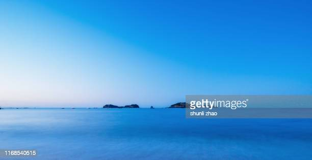 sea at night - horizon over water stock pictures, royalty-free photos & images