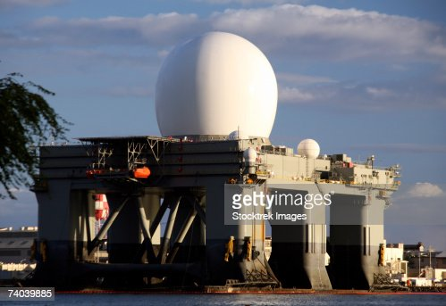 Sea Based Xband Radar Dome Modeled By The Setting Sun At ...